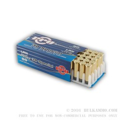 50 Rounds of .38 Spl Ammo by Prvi Partizan - 158gr LRN