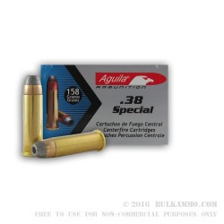1000 Rounds of .38 Spl Ammo by Aguila - 158gr SJHP