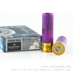 5 Rounds of 16ga Ammo by Federal - 4/5 ounce Rifled Slug
