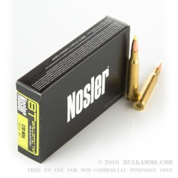 20 Rounds of .270 Win Ammo by Nosler Ammunition - 140gr Nosler Ballistic Tip