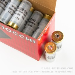 "25 Rounds of 12ga Ammo by Fiocchi - 2-3/4"" 1 ounce #8 shot"