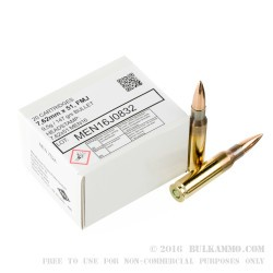 500 Rounds of 7.62x51mm Ammo by MEN - 147gr FMJ