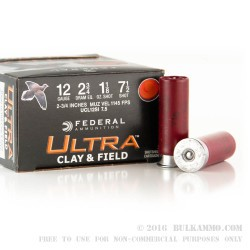 "25 Rounds of 12ga Ammo by Federal - 2-3/4"" 1-1/8 ounce #7-1/2 shot"