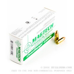 1000 Rounds of 9mm Ammo by Magtech - 115gr FEB