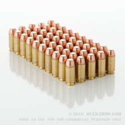 50 Rounds of .40 S&W Clean-Fire Ammo by Speer - 180gr TMJ