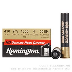 "15 Rounds of .410 2-1/2"" Ammo by Remington Ultimate Home Defense -  00 Buck"