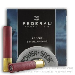 5 Rounds of .410 Ammo by Federal - 1/4 ounce Rifled Slug
