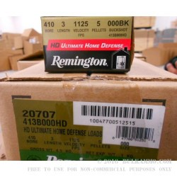 """150 Rounds of .410 3"""" Ammo by Remington -  000 Buck"""