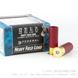 "25 Rounds of 12ga Ammo by Federal Game-Shok - 2 3/4"" 1 1/8 ounce #7 1/2 shot"