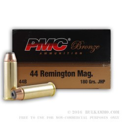 1000 Rounds of .44 Mag Ammo by PMC - 185gr JHP