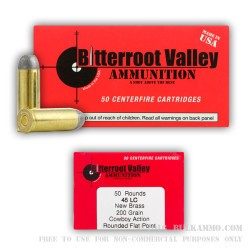 50 Rounds of .45 Long-Colt Ammo by BVAC New - 200gr LRNFP