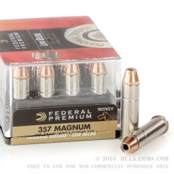 20 Rounds of .357 Mag Ammo by Federal - 130gr JHP