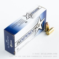 50 Rounds of .45 ACP Ammo by Independence - 230gr FMJ