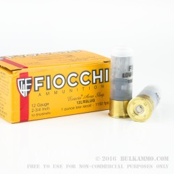 10 Rounds of 12ga Ammo by Fiocchi - 1 ounce Low Recoil Rifled Slug