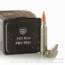 500  Rounds of .223 Ammo by MFS - 55gr FMJ