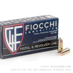 1000 Rounds of 9mm Ammo by Fiocchi - 124gr CMJ