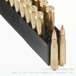 20 Rounds of .300 H&H Mag Ammo by Hornady - 180gr Interbond