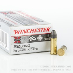 50 Rounds of .22 Long Ammo by Winchester - 29gr LRN