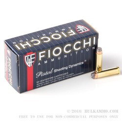 50 Rounds of .357 Mag Ammo by Fiocchi - 125gr SJHP