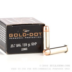 20 Rounds of .357 Mag Ammo by Speer - 158gr JHP
