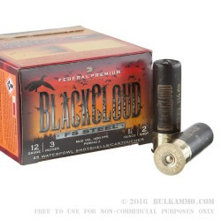 """25 Rounds of 12ga Ammo by Federal Blackcloud Close Range - 3"""" 1-1/4 ounce #2 Shot"""