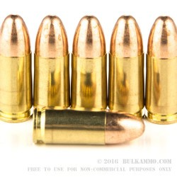 100 Rounds of 9mm Ammo by Federal - 115gr FMJ