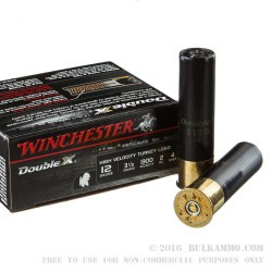 10 Rounds of 12ga Ammo by Winchester Double-X - 2 ounce #4 shot