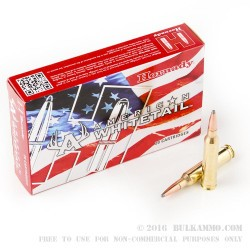 20 Rounds of 7mm Rem Mag Ammo by Hornady American Whitetail- 139gr SP