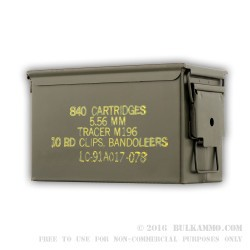 1 Surplus 50 Cal Ammo Can by Lake City - Green - Like New