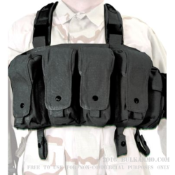 Chest Rig Magazine Pouches - Blackhawk Commando - Black