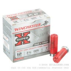 """100 Rounds of 12ga Ammo by Winchester Super-X Xpert - 2-3/4"""" 1 ounce #7 Shot"""