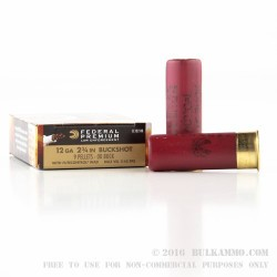 250 Rounds of 12ga Ammo by Federal LE w/ FliteControl Wad - 00 Buck