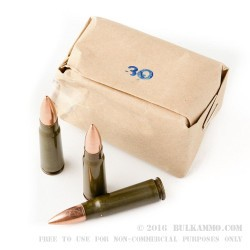 500  Rounds of 7.62x39mm Ammo by Brown Bear - Polymer Coated - 123gr FMJ