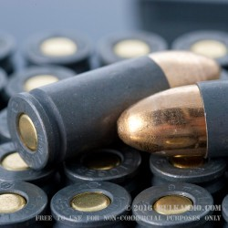 50 Rounds of 9mm Ammo by Tula - 115gr FMJ