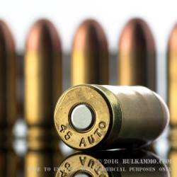 50 Rounds of .45 ACP Ammo by MBI - 185gr FMJ