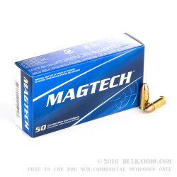 50 Rounds of 9mm Ammo by Magtech - 124gr FMC