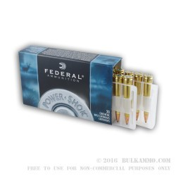 20 Rounds of 6mm Rem Ammo by Federal Power-Shok - 80gr SP