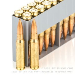 20 Rounds of .308 Win Ammo by Sellier & Bellot - 168gr HPBT