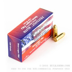 50 Rounds of 9mm Ammo by Hotshot Elite - 124gr FMJ