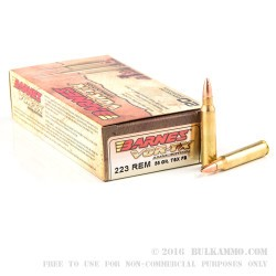 200 Rounds of .223 Ammo by Barnes VOR-TX - 55gr TSX