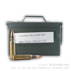 500  Rounds of .308 Win Ammo by Lake City - 142gr Tracer
