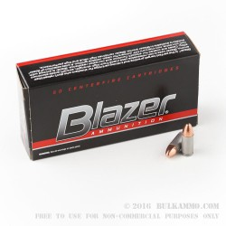 1000 Rounds of 9mm Ammo by Blazer - 115gr FMJ