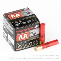 250 Rounds of .410 Ammo by Winchester AA-HS Target - 1/2 ounce #9 shot