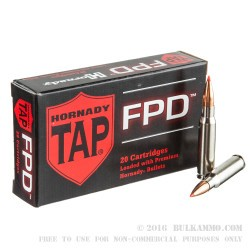 20 Rounds of .308 Win Ammo by Hornady TAP FPD - 155gr Polymer Tipped