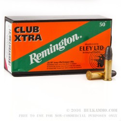 50 Rounds of .22 LR Ammo by Remington Eley Club Xtra - 40gr LRN