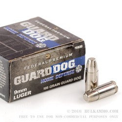 20 Rounds of 9mm Ammo by Federal - 105gr EFMJ