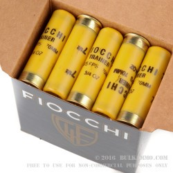 250 Rounds of 20ga Ammo by Fiocchi - 3/4 ounce #7 1/2 shot