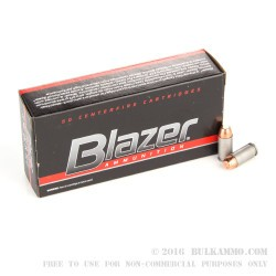 50 Rounds of .40 S&W Ammo by Blazer - 180gr TMJ