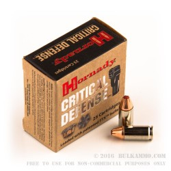 25 Rounds of 9mm Ammo by Hornady - 115gr JHP