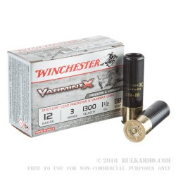 "10 Rounds of 12ga Ammo by Winchester Varmint-X - 3"" 1 1/2 ounce BB"